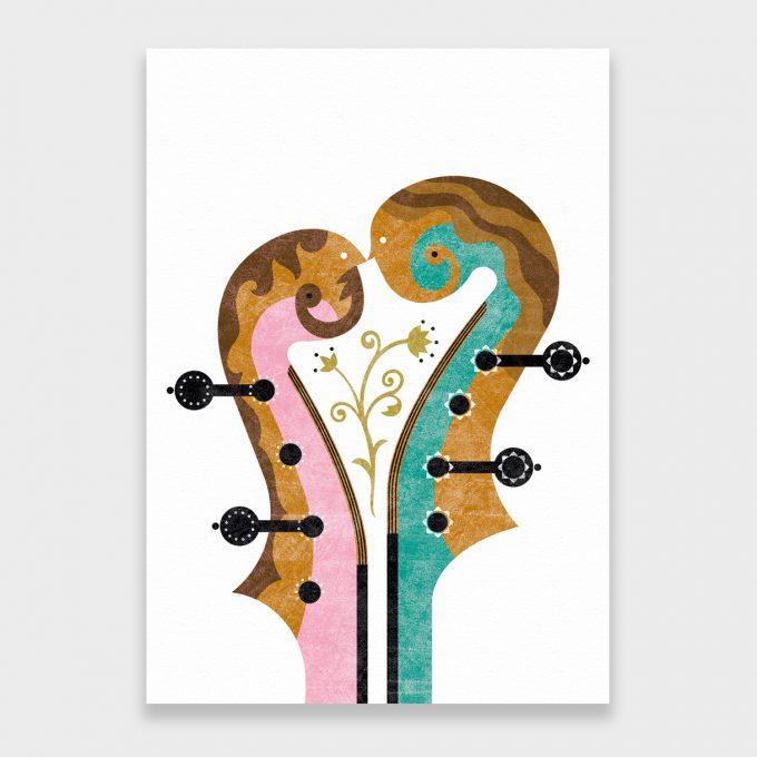 Violines. Musika. Lamina A5