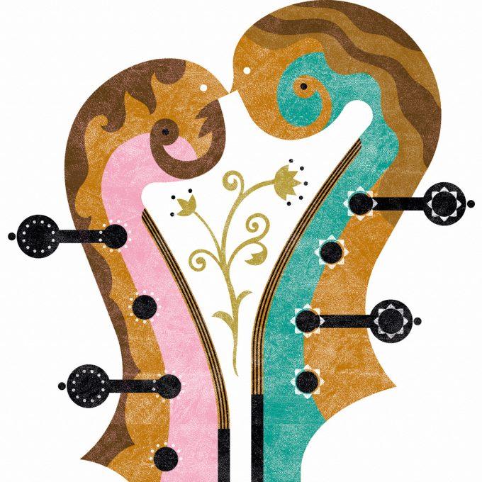 Violines. Musika. Lamina A5, detalle