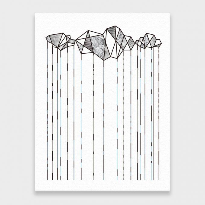 Lluvia. Lámina 30x40