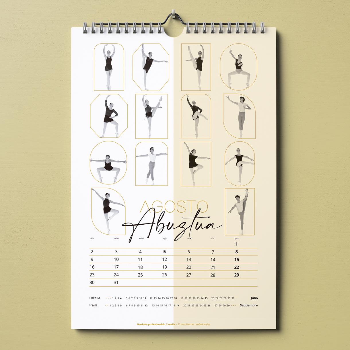Danza José Uruñuela, calendario-egutegia