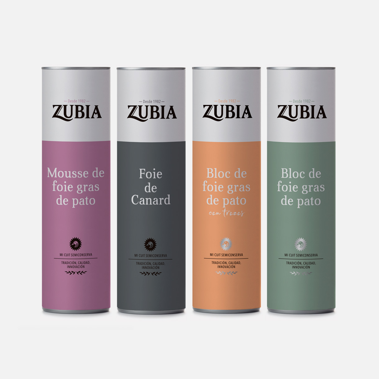 Patés Zubia, packaging