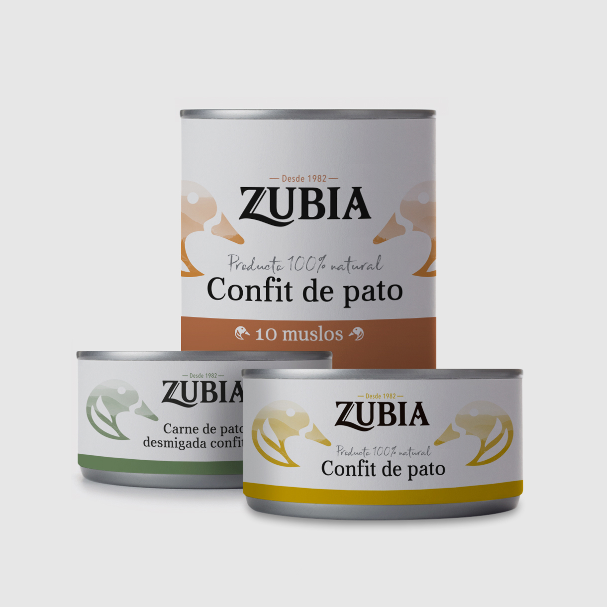 Patés Zubia, packaging