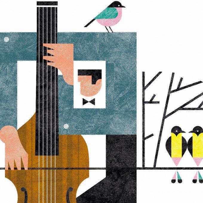 Viola de Gamba. Musika. Lamina A5. Detalle