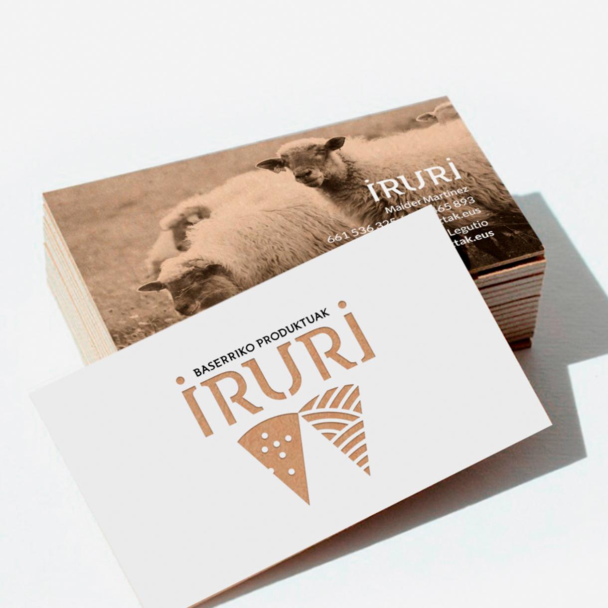 Iruri, tarjetas de visita