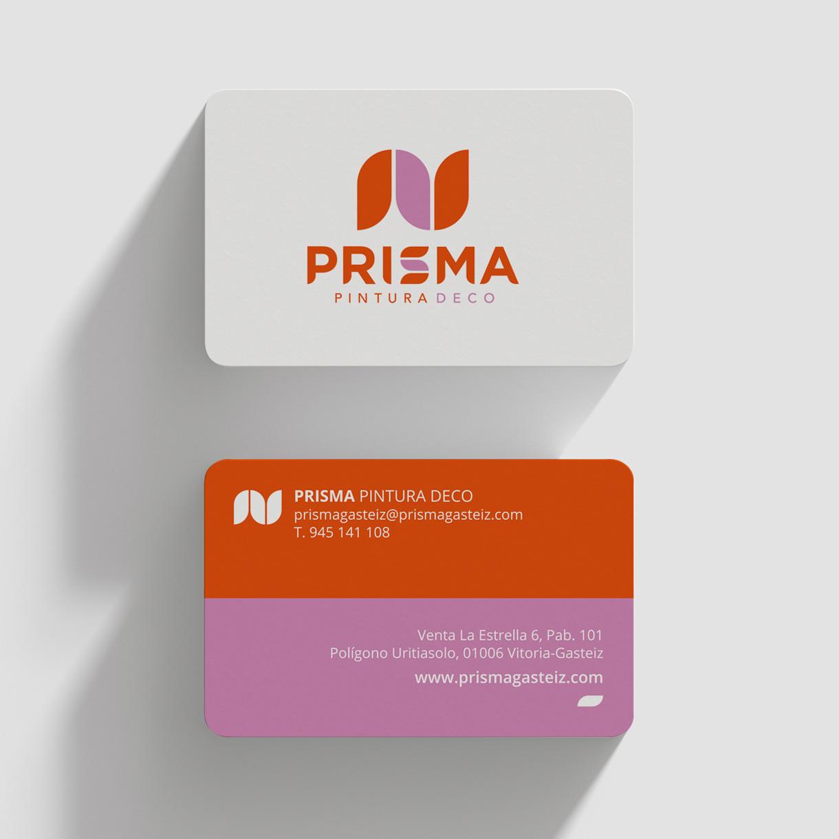 Prisma, tarjeta de visita
