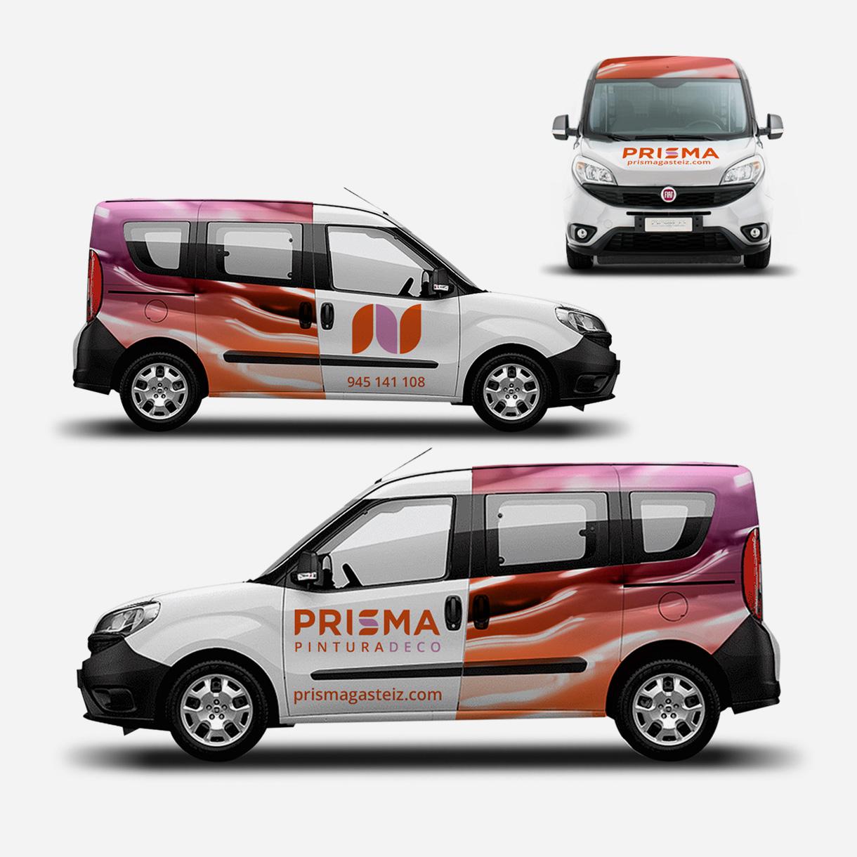 Prisma, rotulación de vehículos