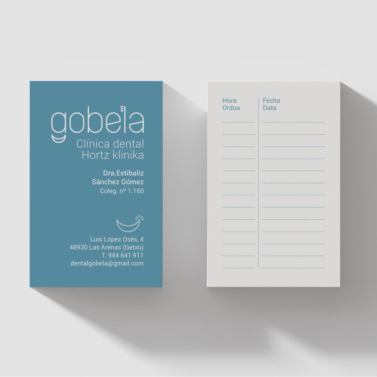 Clinica Dental Gobela, creacion de marca y aplicaciones
