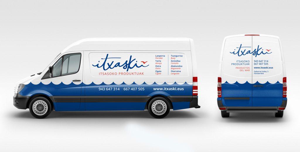 Itxaski, rotulación de vehículo