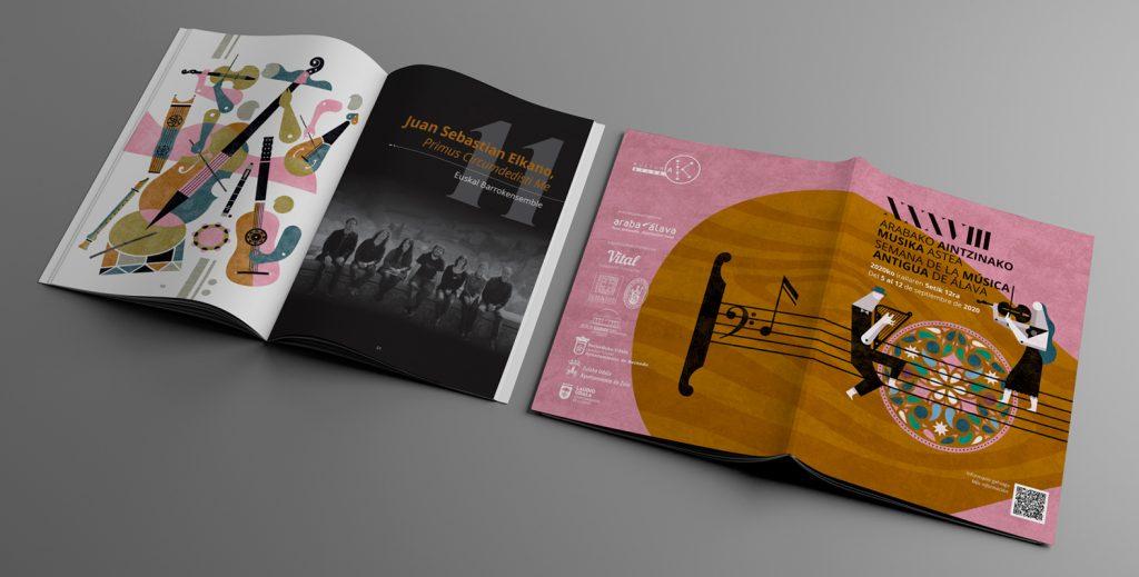 Semana de la Música Antigua, diseño, maquetación e ilustración